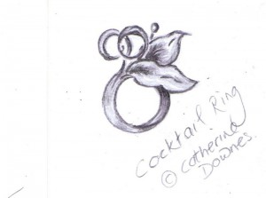 Cocktail ring, sketch. © Catherine Downes